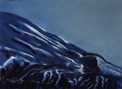 painting of ruapehu_foothills