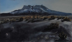 painting of ruapehu_on_a_clear_winter_morning