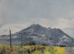 painting of Bluapehu