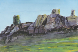 painting of Canterbury Escarpment