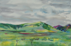 painting of Canterbury Foothills