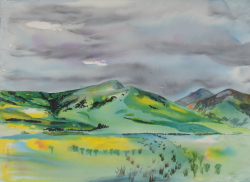 painting of Canterbury Foothills iii