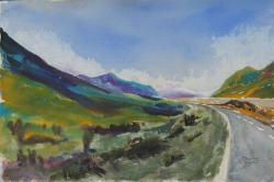 painting of Driving Up To Aoraki