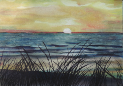 painting of Foxton Sunset