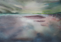 painting of Foxton Sunset ii