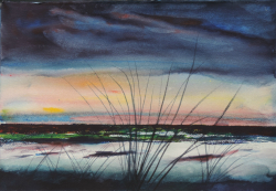 painting of Foxton Sunset iii