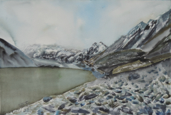 painting of Hooker Lake