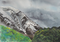 painting of Hooker Valley
