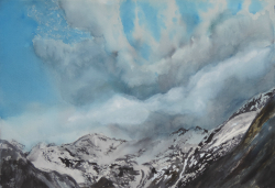 painting of Hooker Valley Vista