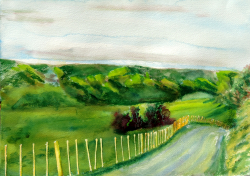 painting of Matarawa Valley