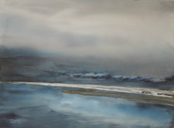 painting of foxton_beach_low_water_i