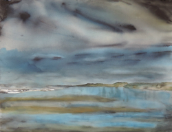 painting of foxton_beach_low_water_ii