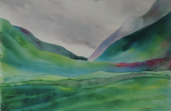 painting of green_hills