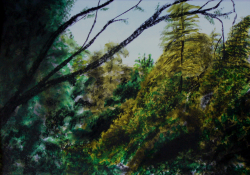 painting of mt_lees_trees_2