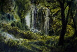 painting of mt_lees_trees_3
